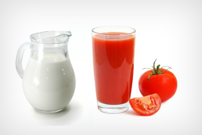Image result for buttermilk with tomato juice skin