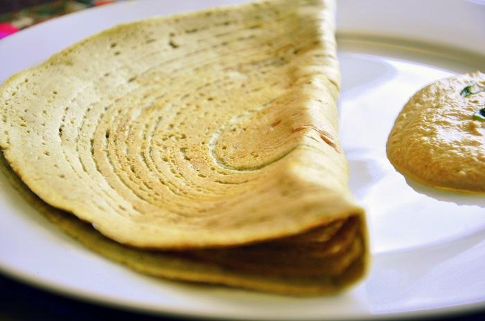 Photo Credit  http://tastedeindia.com/green-mungdal-and-barley-dosa-barley-pesarattu/barley-pesarattu-thumbnail/
