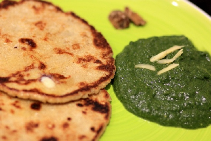 Image Source http://www.myweekendkitchen.in/2012/12/22/sarson-ka-saag-and-makki-ki-roti/